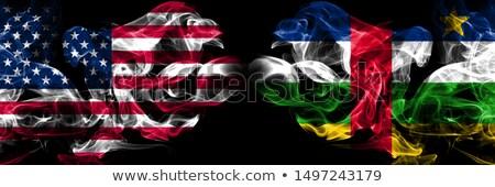 Voetbal vlammen vlag centraal afrikaanse republiek Stockfoto © MikhailMishchenko