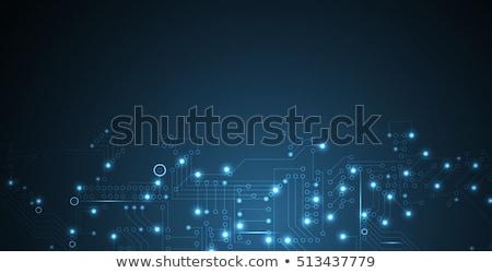 Digitális kék technológia bináris számok oktatás Stock fotó © SArts
