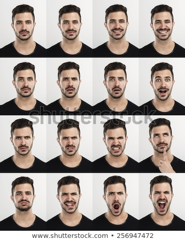 Young man multiple expressions Stock photo © georgemuresan