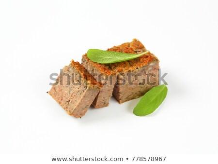 Disznóhús máj darab étel föld stúdiófelvétel Stock fotó © Digifoodstock