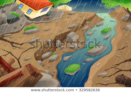 Mudslide On House Stockfoto © Artisticco