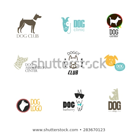Pet Shop Logotype Design Canine Animal Silhouette Stock photo © robuart