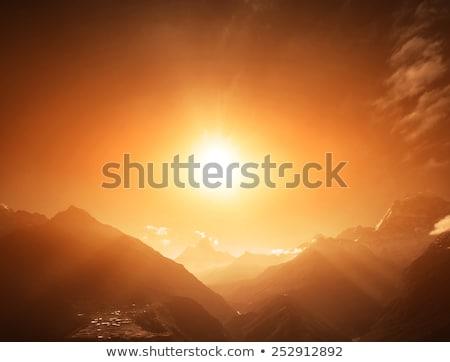 Pumo Ri Himalaya Mountain peak in Nepal Stock photo © blasbike