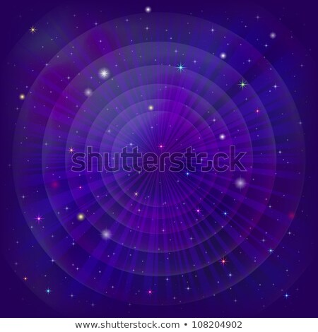 violet circle background with outer space stock photo © sonya_illustrations