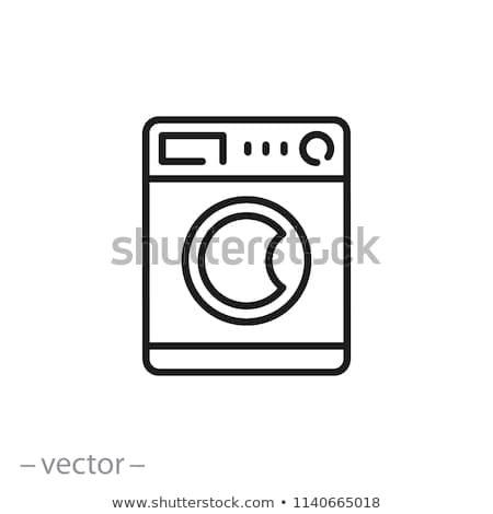 washing machine, vector design, eps10 Stock photo © place4design