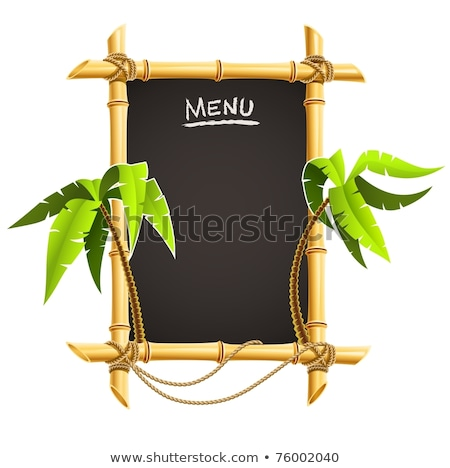 bamboo frame with tropical palms Stock photo © LoopAll