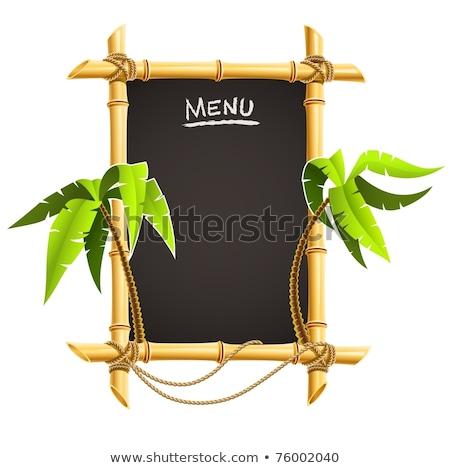 竹 · フレーム · 孤立した · 白 · 木材 · 自然 - ストックフォト © loopall