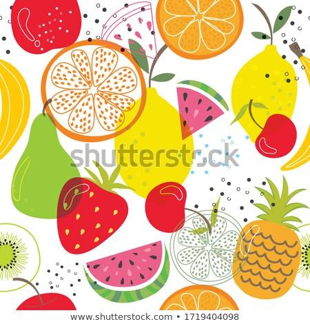 Színes gyümölcs minta végtelenített nyár háttér Stock fotó © ExpressVectors