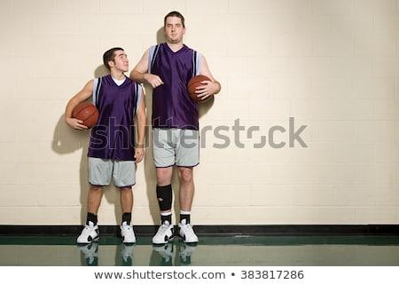 Magas rövid kosárlabda játékosok kínai játszik Stock fotó © IS2