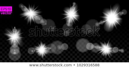 big set of lamp light lens on dark Stock photo © romvo