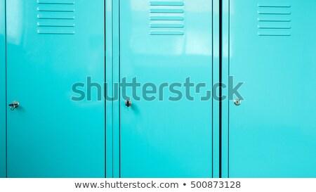 Metallic safe box with closed door labels set Stock photo © studioworkstock