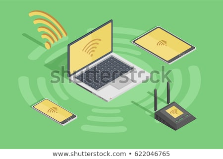 Online fizetés poszter okostelefon papír bankjegyek Stock fotó © studioworkstock