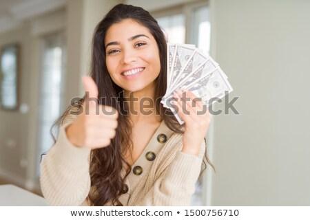 Arabisch vrouw dollarteken hand kleding corporate Stockfoto © studioworkstock