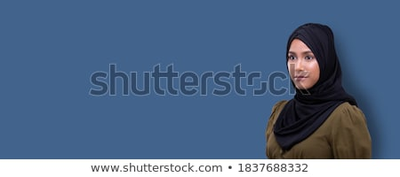 portrait of a middle eastern woman wearing a black hijab stock photo © monkey_business