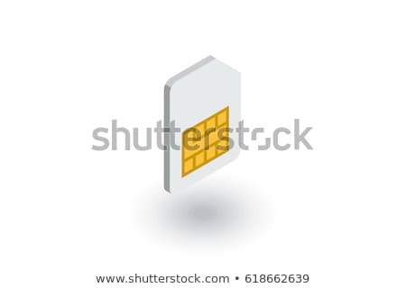 Specifications isometric icon, isolated on color background Stock photo © sidmay