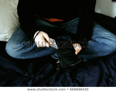 мальчика бумажник спальня мужчины Сток-фото © IS2