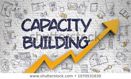 Capacidade edifício branco 3D ilustração Foto stock © tashatuvango