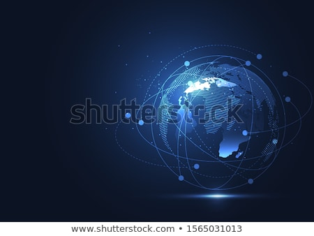 Wereld 3D gerenderd illustratie kabel geïsoleerd Stockfoto © Spectral