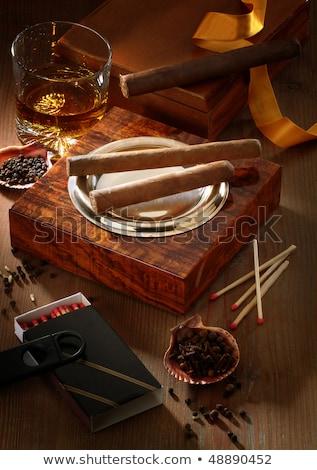 喫煙 · シガー · 灰皿 · 暗い · 健康 · 煙 - ストックフォト © eh-point
