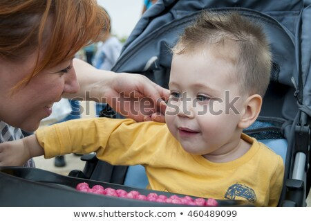 Close up of couple looking into pram Stock photo © IS2