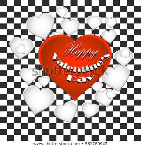 Valentin nap fényes szív átlátszó vektor ünnep Stock fotó © articular