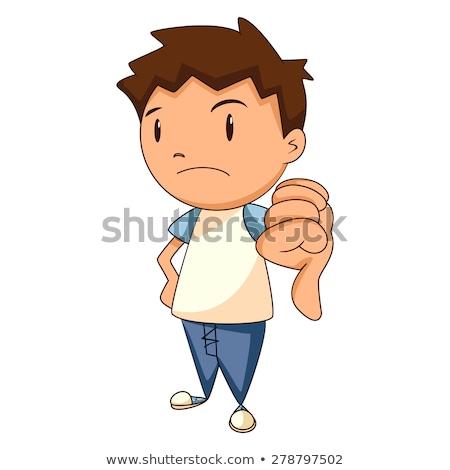 失望した · 子供 · 実例 · 少年 · 見える · 弁当箱 - ストックフォト © rastudio