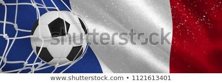 Futbol topu gol net dijital oluşturulan fransız Stok fotoğraf © wavebreak_media