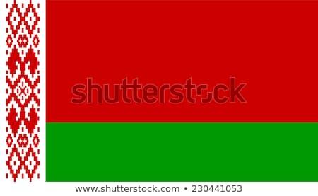 zászló · Fehéroroszország · absztrakt · felirat · szín · diagram - stock fotó © butenkow