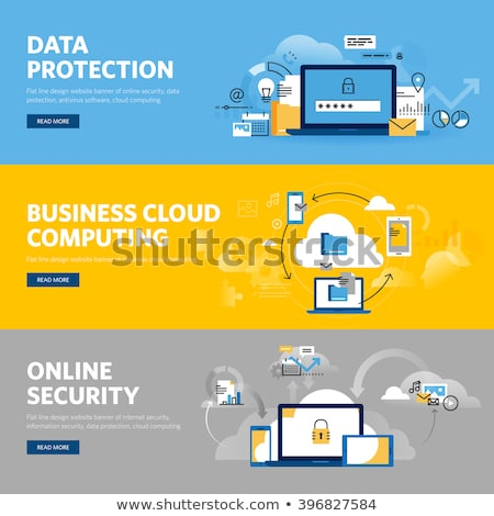 Cloud services banners set Stock photo © Genestro