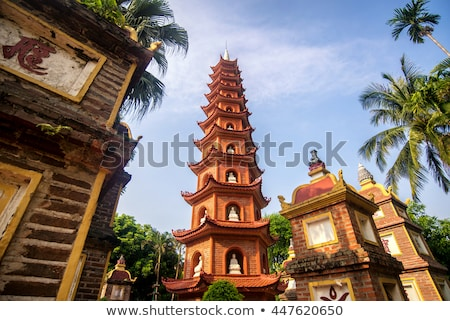 Vietnam. Pagoda of Tran Quoc temple in Hanoi stock photo © romitasromala