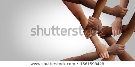 diverzitás · kör · alakú · csoport · kötelek · körkörös - stock fotó © lightsource