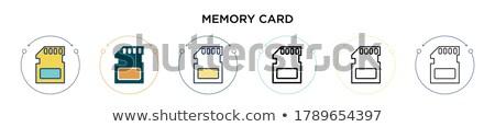 kártya · vonal · ikon · vektor · izolált · fehér - stock fotó © robuart