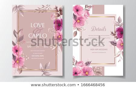 セット 結婚式 カード フローラル 結婚式招待状 保存 ストックフォト © SelenaMay
