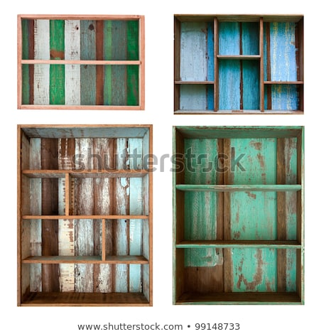 Four Old Grunge Wood Shelf Stock photo © nuttakit