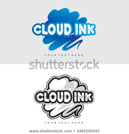 Magenta Colored Vectorized Ink Sketch of Clouds Illustration Stock photo © cidepix