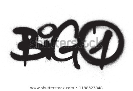 graffiti tag big one 1 sprayed with leak in black on white Stock photo © Melvin07