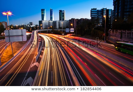 Blurred Tail Lights And Traffic Lights On Motorway Stock photo © monkey_business