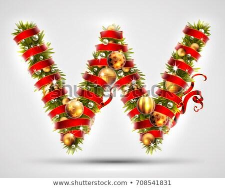 Christmas alphabet letter W Stock photo © grafvision