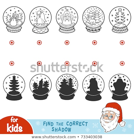 differences game with Xmas Santa Claus color book Stock photo © izakowski