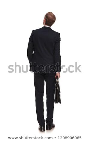 Dietro singolare imprenditore valigia lato Foto d'archivio © feedough