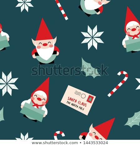 Naadloos elf christmas illustratie partij Stockfoto © colematt