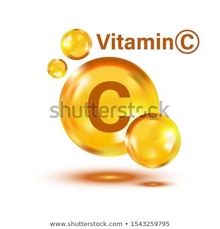 C vitamin citrus szöveg csoport gyümölcs narancsok Stock fotó © Lightsource