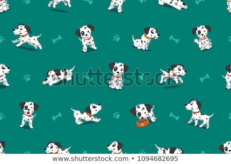Rajz dalmata felirat illusztráció kutya fehér Stock fotó © cthoman