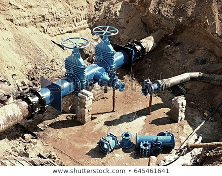 Wellhead with valve armature. Stock photo © EvgenyBashta