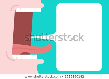Open mouth and speech bubble. place for text. tongue and Teeth.  Stock photo © MaryValery