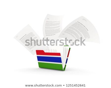 Dobrador bandeira Gâmbia arquivos isolado branco Foto stock © MikhailMishchenko