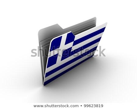 Yunanistan · bayrak · örnek · suluboya · arka · plan · sanat - stok fotoğraf © mikhailmishchenko