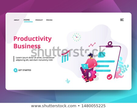 Productivity concept banner header. Stock photo © RAStudio