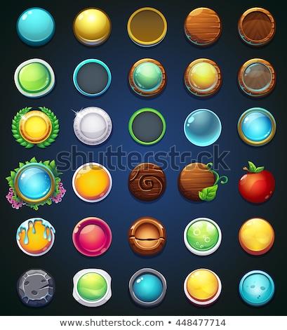 Сток-фото: набор · игры · Элементы · баннер · Кнопки · иллюстрация