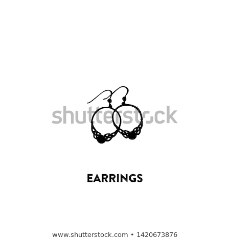 Expensive Earrings Sapphire Stones Vector Icons Stock photo © robuart